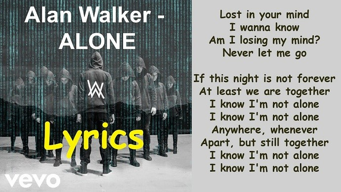 Alan Walker Alone Lyrics in English - Mr. BD Guide