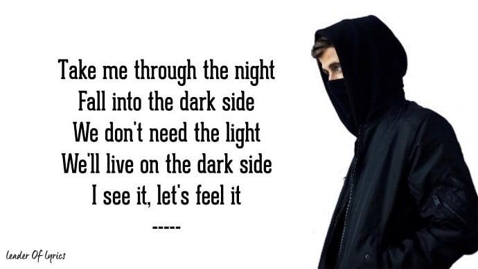 Alan Walker Darkside Song Lyrics Download - Mr. BD Guide