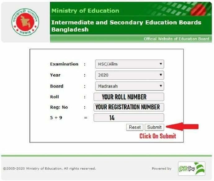 Alim Result - First Method educationboardresults.gov.bd