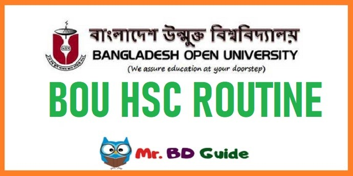 BOU HSC Exam Routine Featured Image - Mr. BD Guide