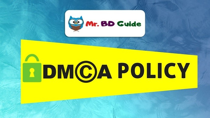 DMCA Policy Page Featured Image - Mr. BD Guide