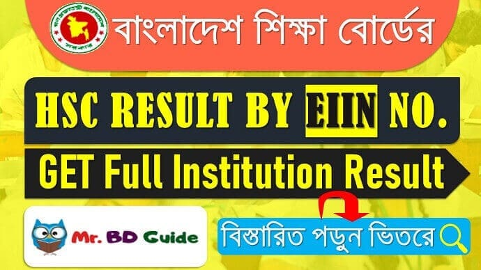 HSC Result With EIIN Number Full Institution Result - Mr. BD Guide