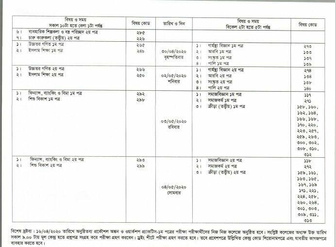 HSC-Routine-2020 - 01 - Mr. BD Guide