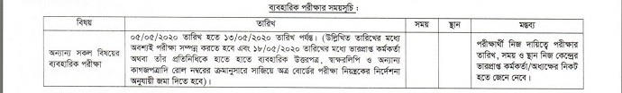 HSC-Routine-2020 For-Practical-Exam - Mr. BD Guide