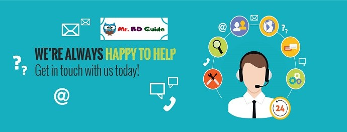 Mr. BD Guide Contact Us Banner