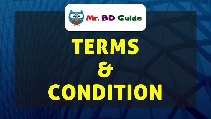 Terms & Condition Page - Mr. BD Guide