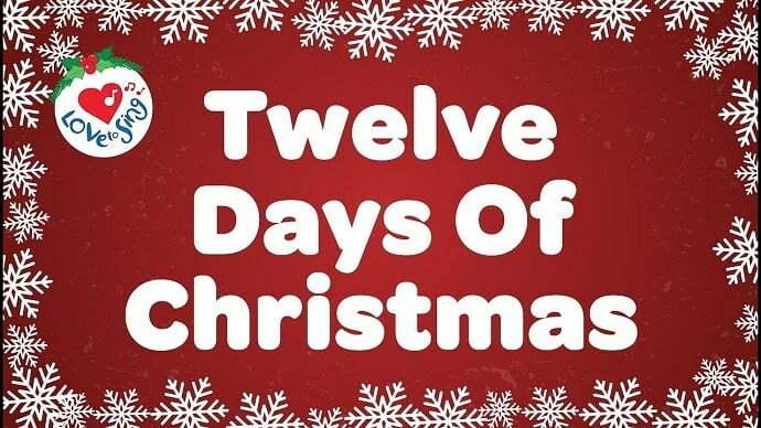Twelve Days of Christmas Song Lyrics Download - Mr. BD Guide