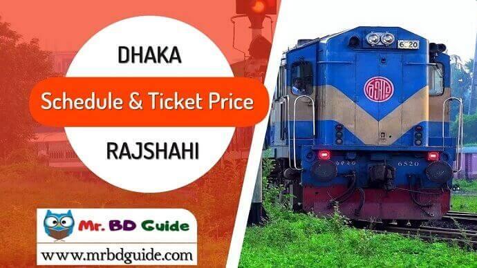 Dhaka To Rajshahi To Rajshahi Train Schedule & Ticket Price Featured Image