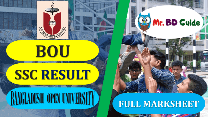 BOU SSC Result With Full Marksheet Featured Image - Mr. BD Guide