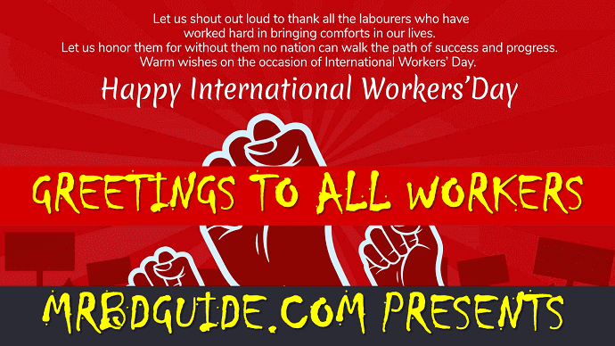 International Workers Day Greetings - Mr. BD Guide