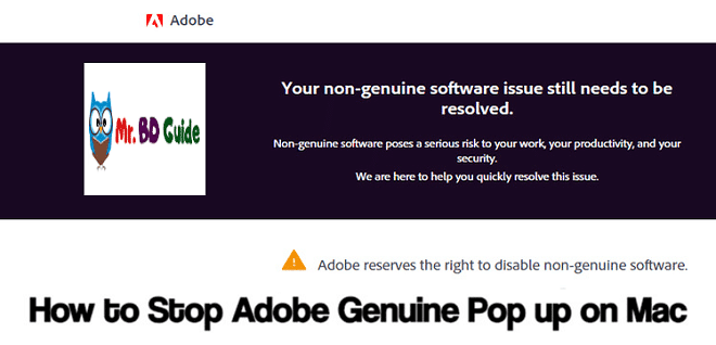 How to Stop Adobe Genuine POP UP on MAC [2021 Update] - Featured Image