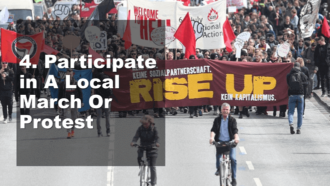 Participate in A Local March Or Protest - How to Celebrate May Day - Mr. BD Guide