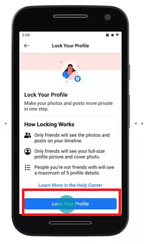 How to Lock FB Profile - Step 03