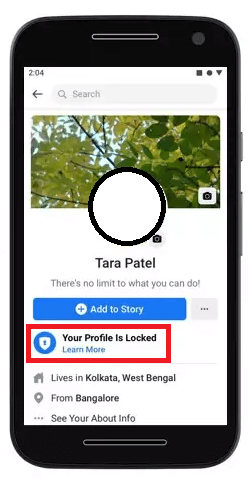 How to Lock FB Profile - Step 05